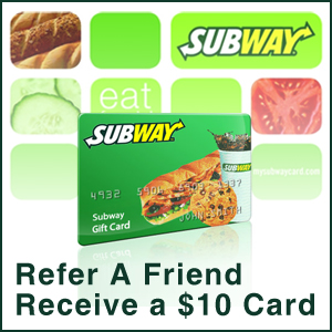 Refer a Friend Receive a $10 card